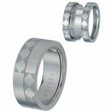 Stainless Steel Etched Diamond Shape Screwing Ring