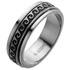 Spinner Ring with Oriental Waves design
