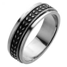 Anti Stress Ring with Black Engraving Desgin