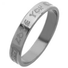 Ring in Stainless Steel with LOVE YOU engraving.