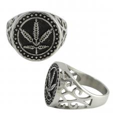 Stainless Steel Designer Hemp Ring