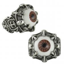 Stainless Steel Eye Ball Designer Goth Ring