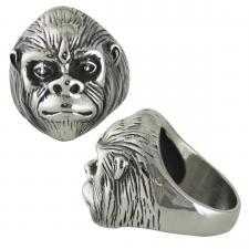 Stainless Steel Ape Head Ring