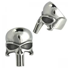 Stainless Steel Long Skull Head Ring