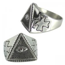 Stainless Steel Pyramid Eye Ring