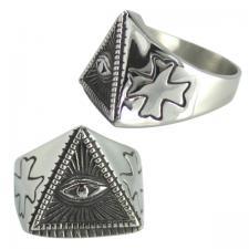 Stainless Steel Pyramid Eye Ring