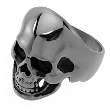 Human Skull Ring in Stainless Steel