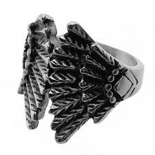 Wings Ring in Stainless Steel