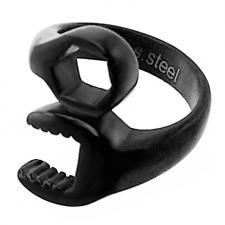 Black Wrench Ring in Steel