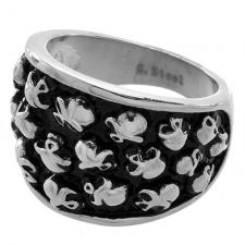 Stainless Steel Ring with Collection of Skulls