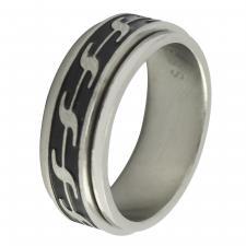 Stainless Steel Designer Spinner Ring