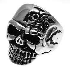 Stainless Steel Terminator Skull Ring
