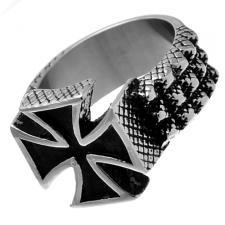 Stainless Steel Maltese Cross Irish Ring