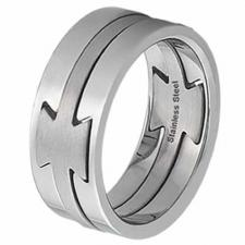 3 Piece Stainless Steel Ring