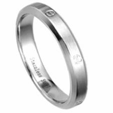 Stainless Steel Ring With Faux Screw Design