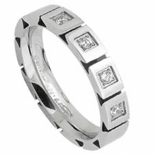Beautiful Stainless Steel Ring with Cubic Zirconia Studs