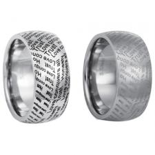 Stainless Steel Ring With Laser Inscription