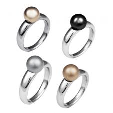 Stainless Steel Ring with Matte Or Shiny PVD Ball