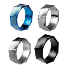 Uniquely Shaped Stainless Steel Ring
