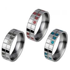 Stainless Steel Ring With Checkered Design!