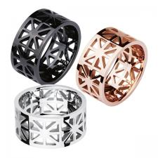 stainless steel Ring, Cutout, Geometric, Pattern