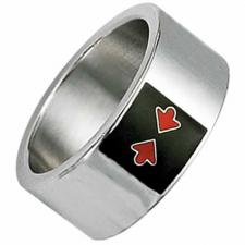 Stainless steel with Black Enamel with red Arrows ring