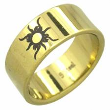 Stainless Steel Ring- Tribal Sun Design