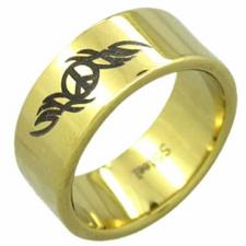 Stainless Steel Ring- Peace Sign Design