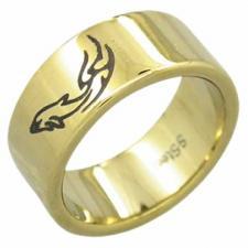 Stainless Steel Ring- Tribal Design