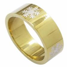 Stainless Steel rings w/PVD Gold