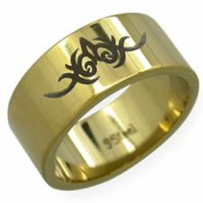 Stainless Steel Ring- Tribal Design