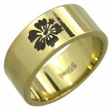 Stainless steel ring - Flower design