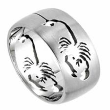Stainless Steel Ring - scorpion curving
