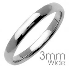 Stainless Steel Ring With Shiny Finish (3MM WIDE)