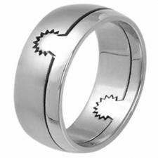 Stainless steel ring - 2 parts