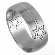 Beautiful Stainless Steel Star Puzzle Ring