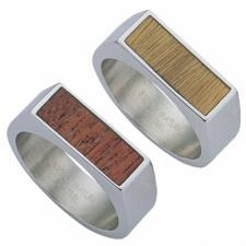 Wholesale Stainless Steel Ring With Wood Center