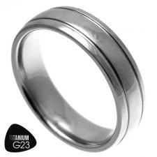 Wedding Band, Titanium, Dome Ring