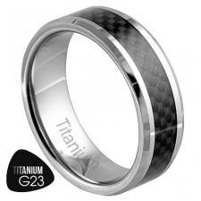 Titanium Ring with Carbon Fiber