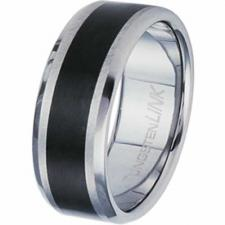 Gorgeous Tungsten Carbide Ring With Black PVD Stripe