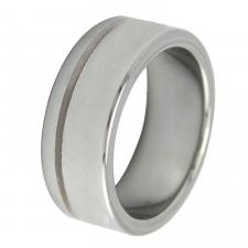 Beautiful Two-Toned Tungsten Carbide Ring