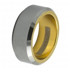 Tungsten Two-Tone Designer Ring