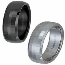 Gorgeous Tungsten Ring - Tungsten, RoseGold,or Black PVD- 6mm Width