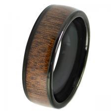 Men's Tungsten Wood Ring