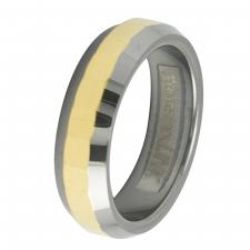 Men's Designer Two-Tone Tungsten Ring