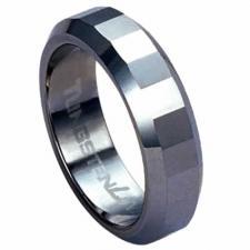 Diamond-cut Tungsten Carbide ring