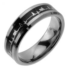 Wholesale Tungsten Ring with Heart Beat design