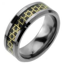 Wholesale Star of David Tungsten Ring