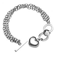 Hear Bracelet in Stainless Steel