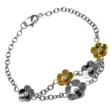Flowers Bracelet in Stainless Steel